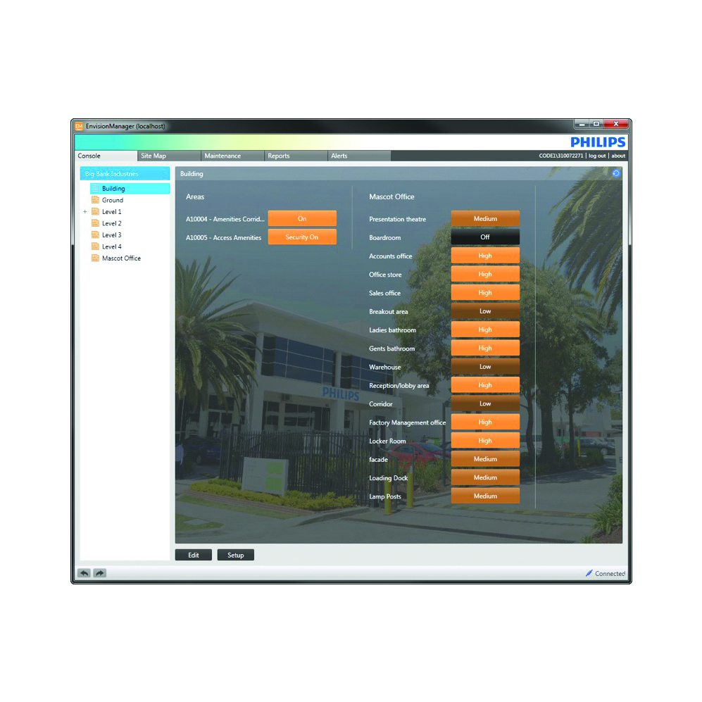 Philips Dynalite System Manager (previously EnvisionManager