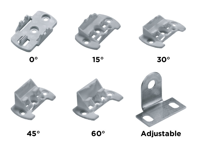 Mounting brackets for LED strip - LED tape